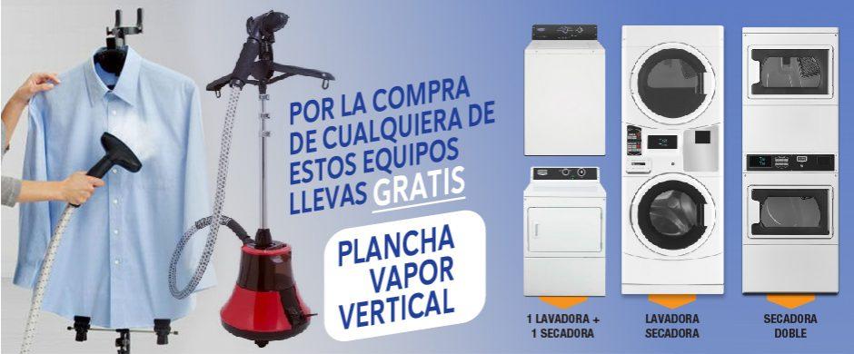 Promoción Lava Ya Laundry – Plancha Vapor Vertical de Obsequio
